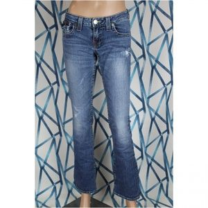 True Religion Womens 27 Becky Jeans Frayed